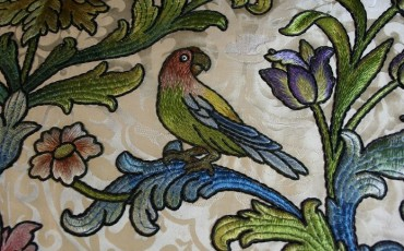St Paul's Cathedral: Art From War: A detail of a bird on the Altar frontal