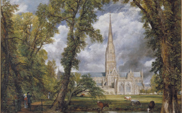 Victoria & Albert Museum: Salisbury Cathedral painting by John Constable