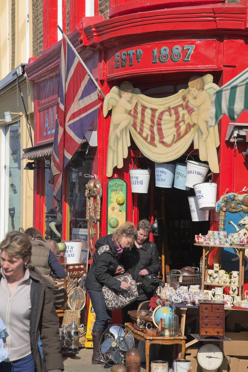 Alice's Shop on Portobello Road