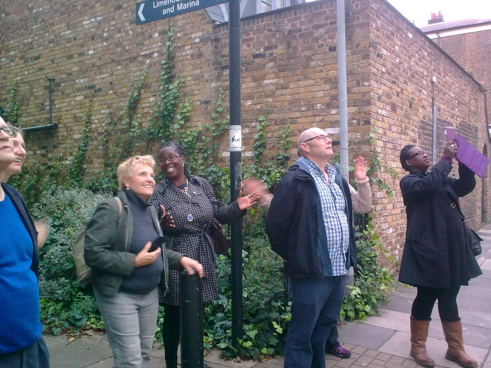 "Blue Badge Tourist Guide Angela Morgan led the ""Strangers by the Docks"" walk on 27 August"