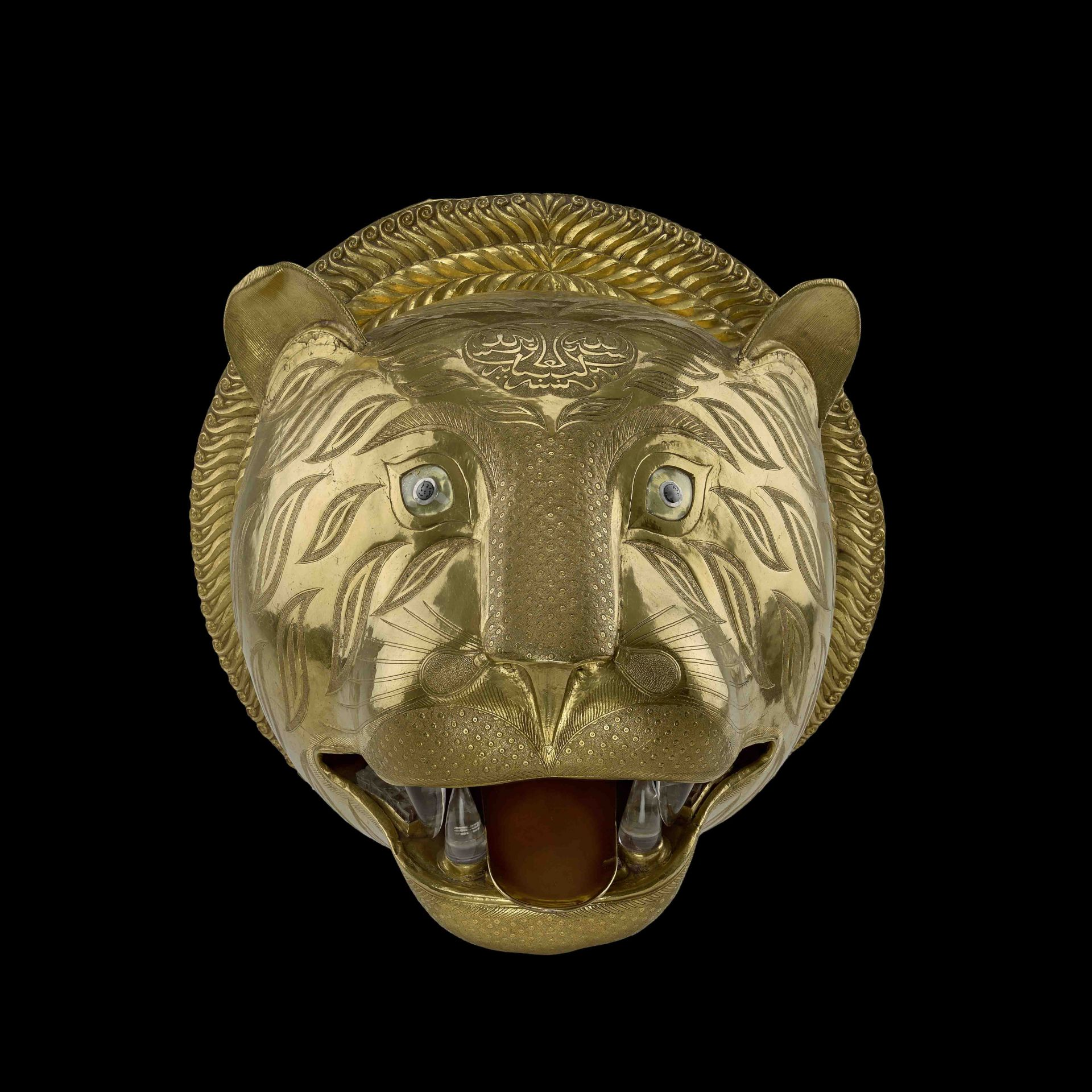 Tiger's head from the throne of Tipu Sultan, 1785-93