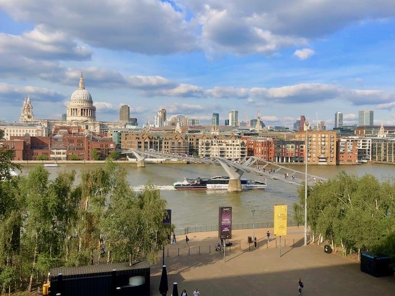 View of Millennium Bridge and Saint Paul Cathedral from Tate Modern. Photo Credit: © Ursula Petula Barzey.
