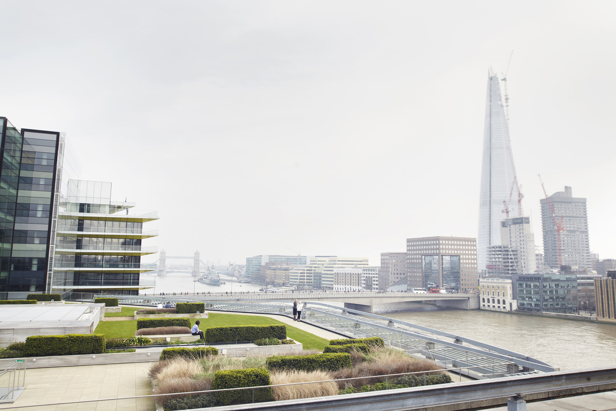 View of The Shard from Cannon Bridge Rooftop Garden
