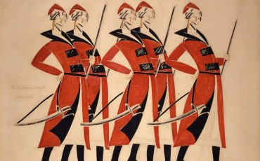 Costume design for Life for the Tsar, 1913-1915, Vladimir Tatlin