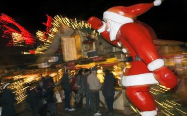 Santa at the Winter Wonderland in Hyde Park
