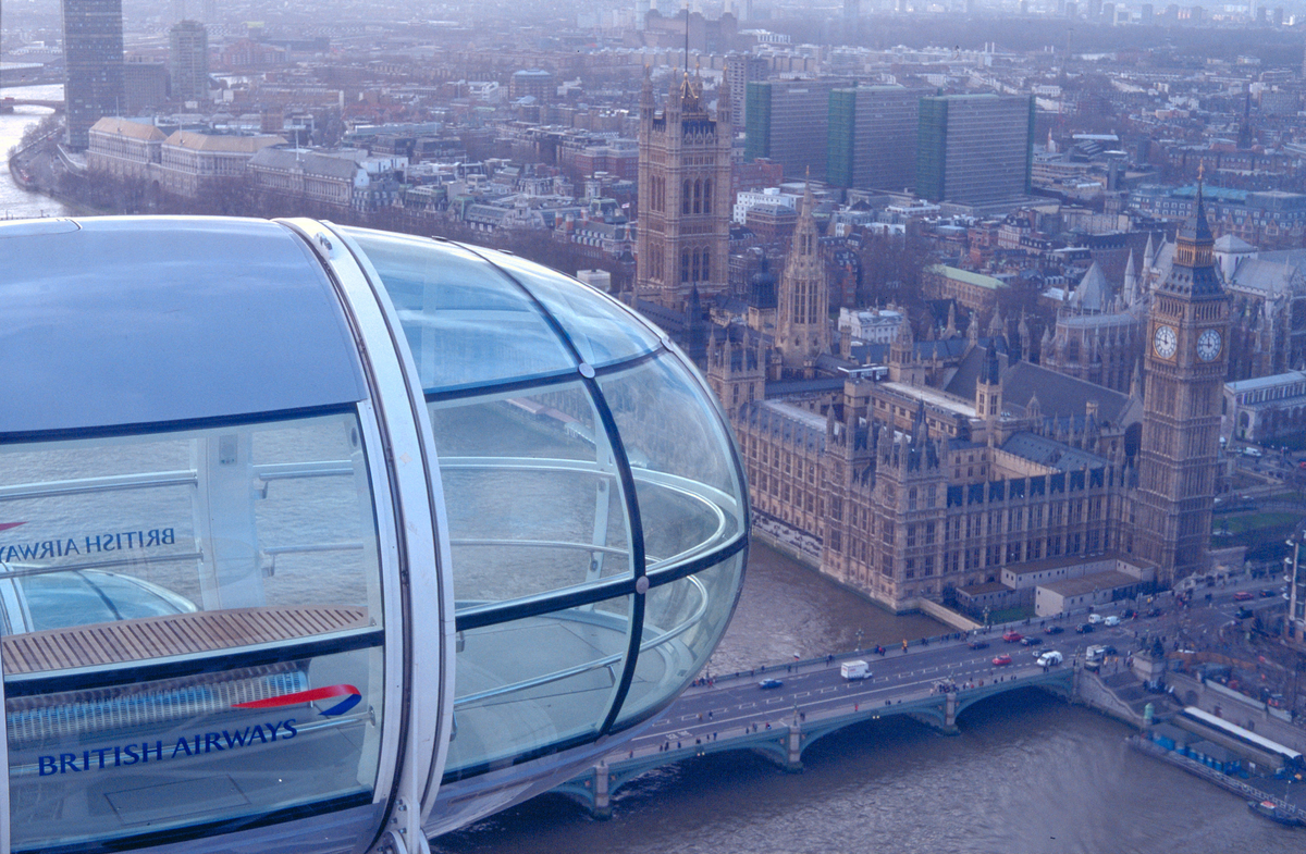 View of Place of Westminster from London Eye