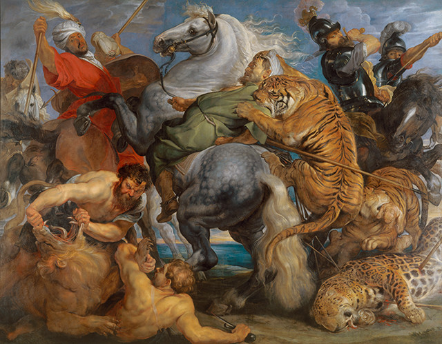 Peter Paul Reubens, Tiger, Lion and Leopard Hunt, 1616