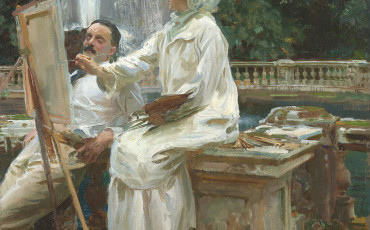 The Fountain, Villa Torlonia, Frascati, Italy by John Singer Sargent