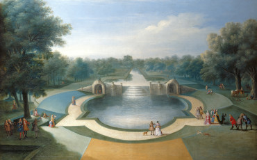 Studio of Marco Ricci, A View of the Cascade, Bushey Park Water Gardens, 1715