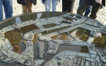 Relief Map of Former Surrey Commercial Docks
