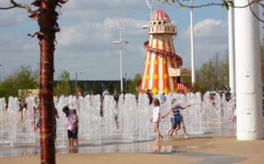 Queen Elizabeth Olympic Park: Interactive Water Fountain