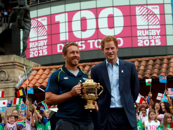 Rugby World Cup 2015 - Jonny Wilkinson & Prince Harry