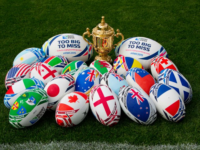 Rugby World Cup 2015 - Trophy & Country Match Balls
