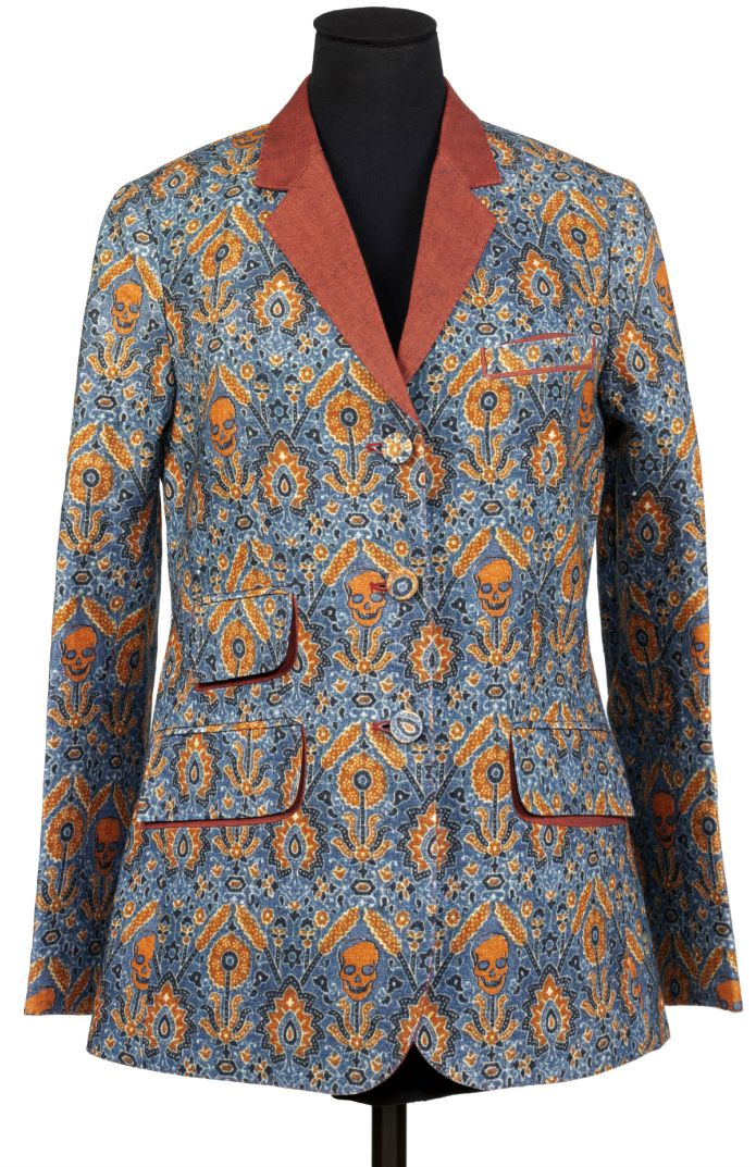 Ajrakh inspired jacket by Rajesh Pratap Singh, digitally printed linen, New Delhi, 2010