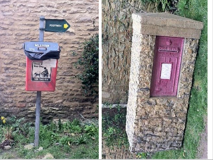 Downton Abbey: Modern Dog Poo Box being covered with Fake Post Box