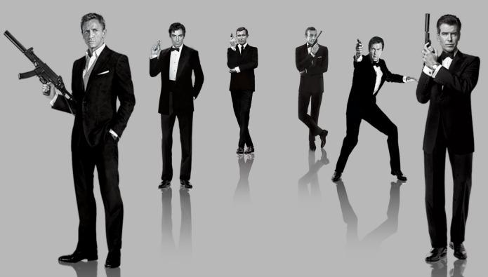 James Bond - Film Actors: Sean Connery to Daniel Craig