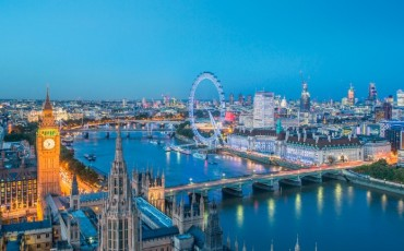 London Skyline With Big Ben & London Eye