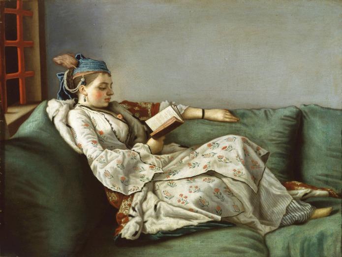 Royal Academy - Jean-Etienne Liotard - Woman on Sofa