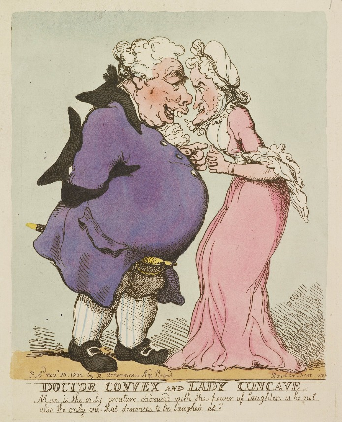 Doctor Convex & Lady Concave, Thomas Rowlandson