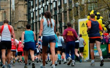 Runners at London Marathon - View of Big Ben. Photo Credit: © London & Partners.