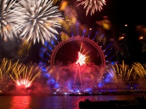 London New Year's Eve Fireworks. Photo Credit: © Visit London.