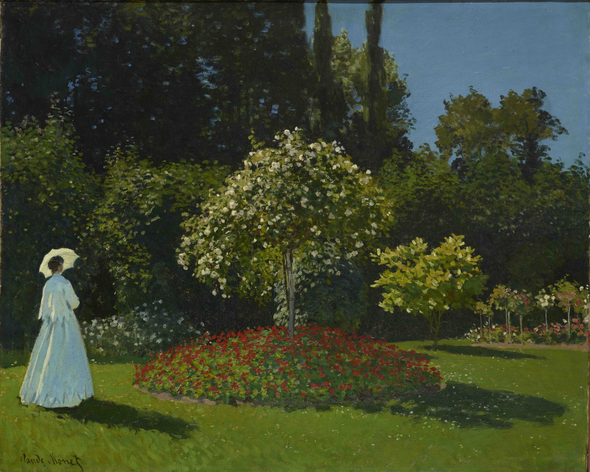Claude Monet - Lady In The Garden