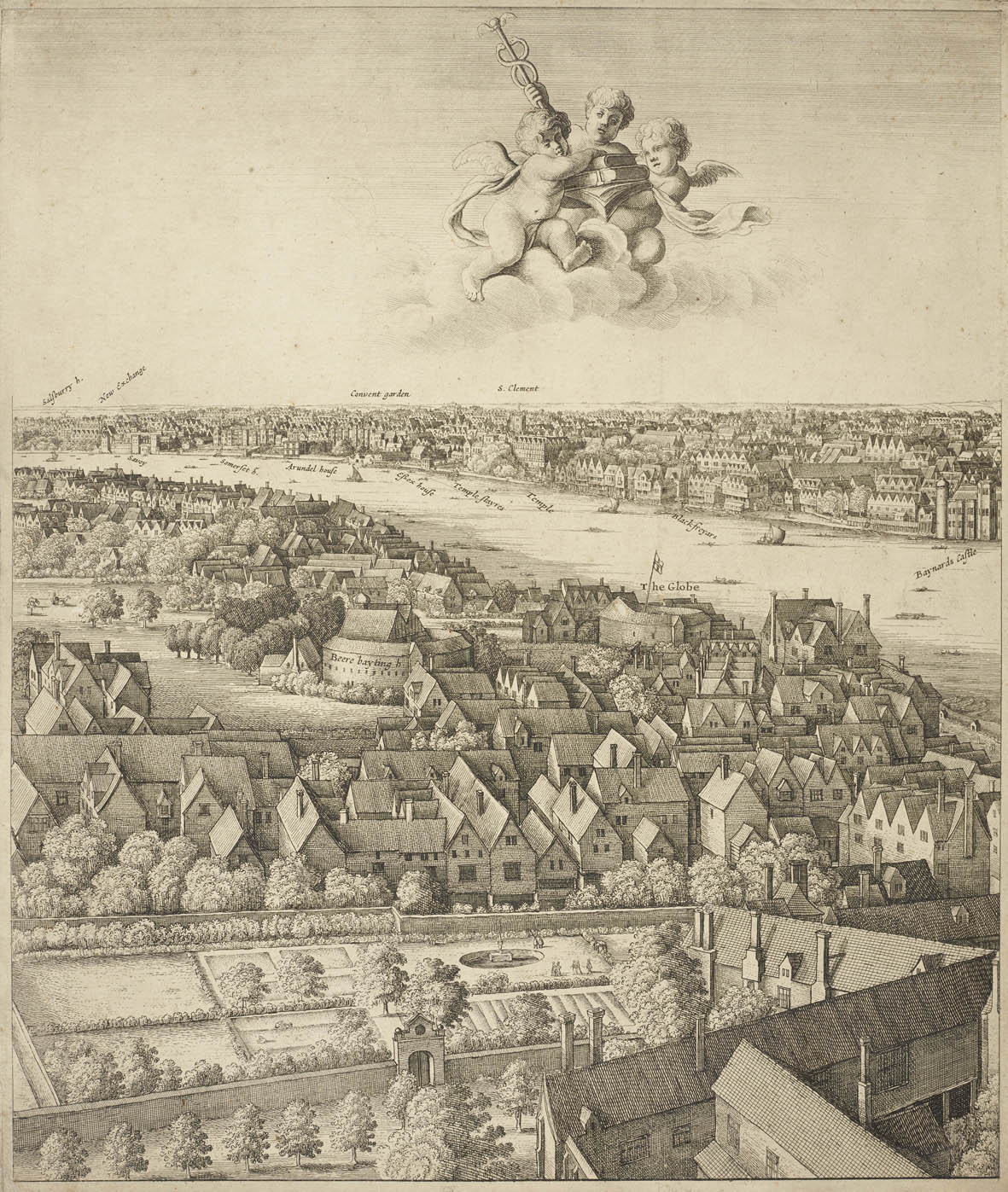 Wenceslaus Hollar, London, the Long View, 1647
