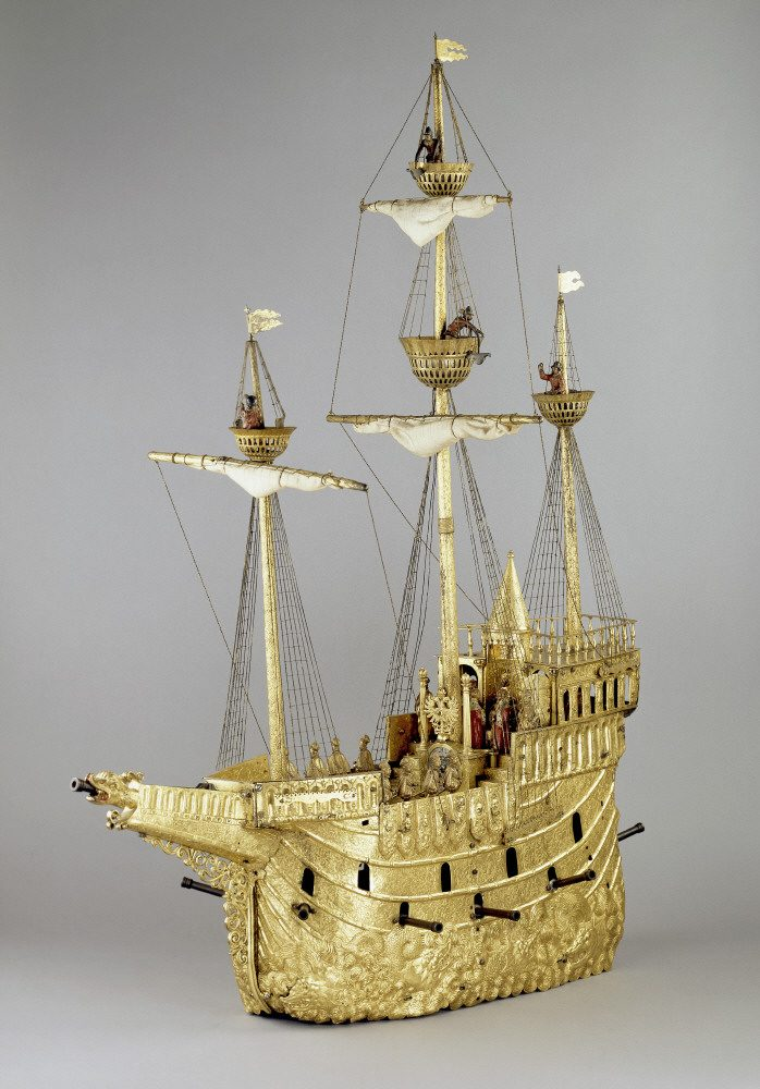 British Museum - The mechanical galleon.