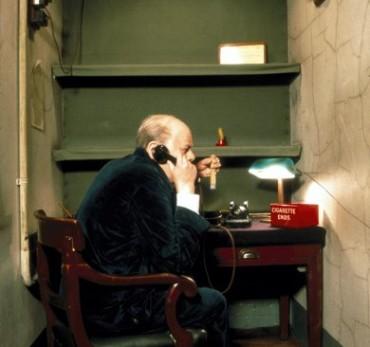 Churchill War Rooms - Churchill in Transatlantic Telephone Room.