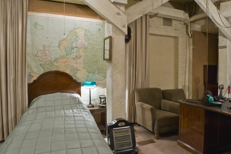 Churchill War Rooms - Churchill's bedroom.