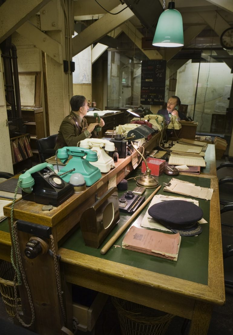 Churchill War Room - The Map Room.