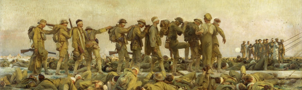 Imperial War Museum London - 'Gassed' by John Singer Sargent, 1919.