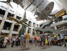 Imperial War Museum London - General view of the Atrium.