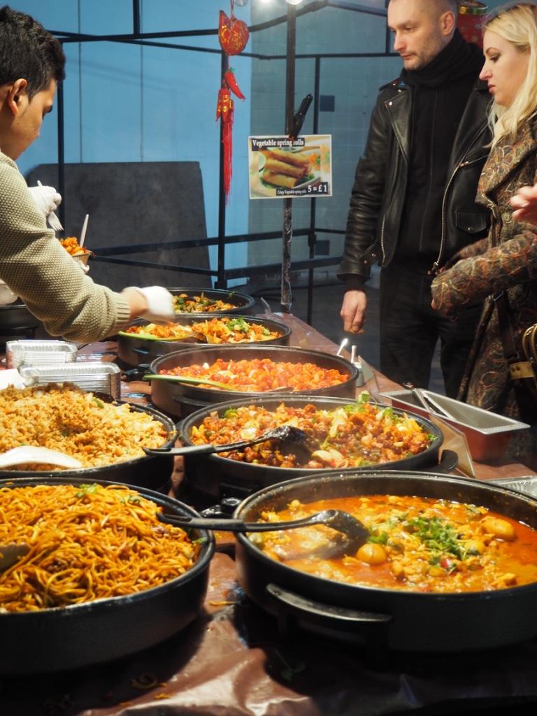 London - Brick Lane food stall. Photo Credit: ©Ursula Petula Barzey.