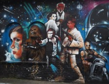 London - Star Wars Street Art in Brick Lane. Photo Credit: ©Ursula Petula Barzey.
