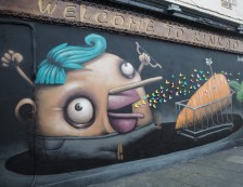 London - Street Art, Welcome To Kinkao, Pedley Street, Off Brick Lane. Photo Credit: ©Ursula Petula Barzey.
