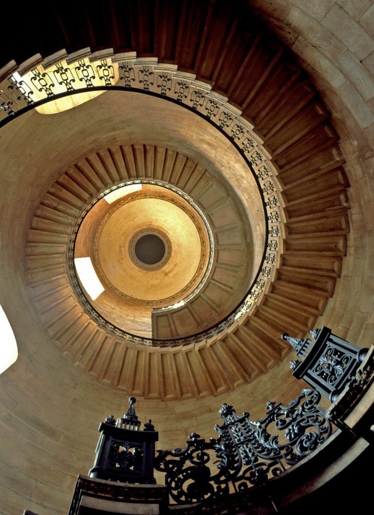 St Paul's Cathedral - Geometric staircase.