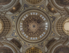 St Paul's Cathedral - View of the Dome ceiling.