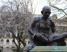 London Bloomsbury Midtown Area - Mahatma Ghandi Statue. Photo Credit: ©Nigel Rundstrom.