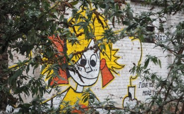 London Street Art in Shoreditch - I love you more than cheese mural. Photo Credit: ©Ursula Petula Barzey.