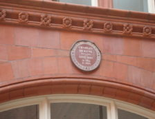 Charles Dickens: Assurance Building plaque for Dickens erected by the Royal Society of Arts. Photo Credit: ©Mark King.