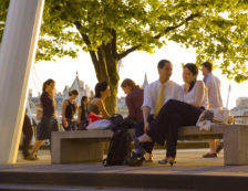 Couple in evening sunlight on London's South Bank. Photo Credit: ©Visit London Images.