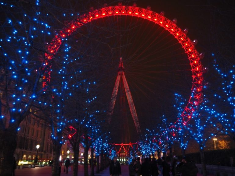 South Bank - A view of the iconic London Eye at night. Photo Credit: ©Ursula Petula Barzey.