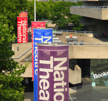 The National Theatre on London's South Bank, designed by Sir Denys Lasdun and built during the 1970s the building has three auditoriums presenting a mix of new plays and classics. Photo Credit: ©Visit London Images.
