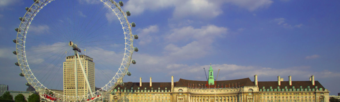 South Bank - View across the River Thames showing the iconic London Eye and historic County Hall building. Photo Credit: ©Visit London Images.
