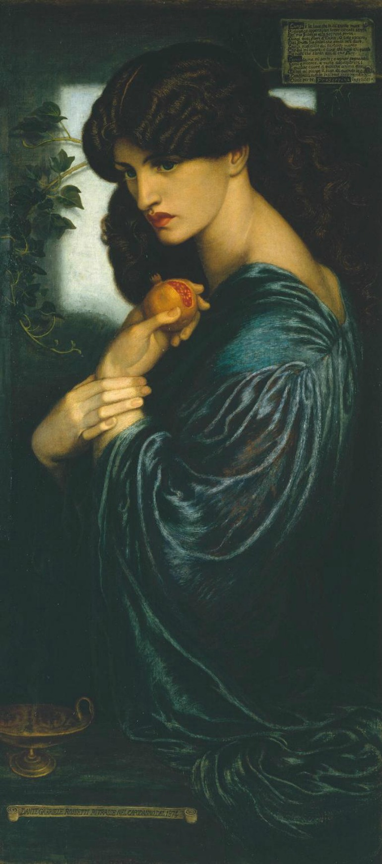 Dante Gabriel Rossetti, Proserpine 1874. Photo Credit: ©Tate Britain.