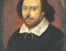 William Shakespeare - The Chandos portrait, artist and authenticity unconfirmed. Photo Credit: © National Portrait Gallery, London.