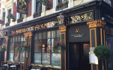London: The Sherlock Holmes Pub at221B Baker Street. Photo Credit: ©Glyn Jones.