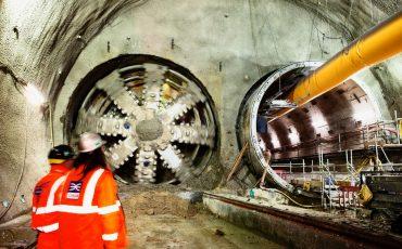 Crossrail Tunnel Boring Machine Jessica breaks through into Stepney Green cavern February 2014. Photo Credit: ©Robby Whitfield/Crossrail Ltd.