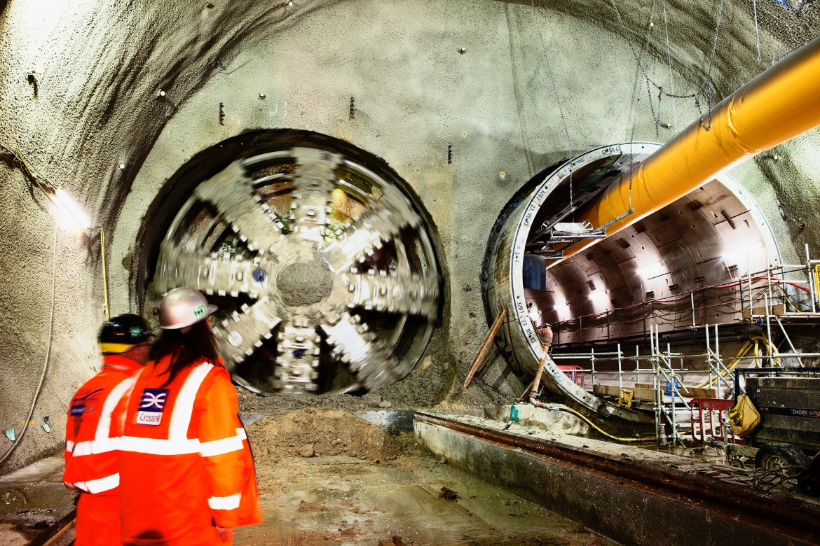 Crossrail Tunnel Boring Machine Jessica breaks through into Stepney Green cavern February 2014. Photo Credit: ©Robby Whitfield/Crossrail Ltd.